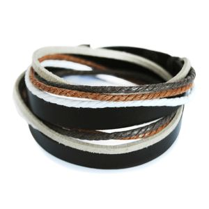axy Armband Lederarmband Wickelarmband Echtlederarmband für Herren Damen Männer Jungen Armschmuck TWIC6