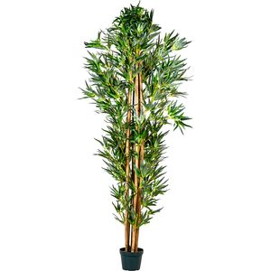PLANTASIA® Bambus-Strauch, Kunstbaum, Kunstpflanze, 190cm