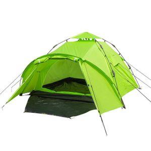 WOLTU Campingzelt 3-4 Personen Zelt Camping Festival Sekundenzelt leicht mit Quick-Up-System Vorzelt Igluzelt wasserdicht Grün