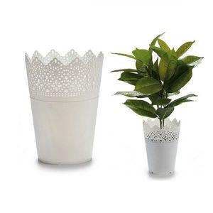 Blumentopf Weiß Kunststoff weiß