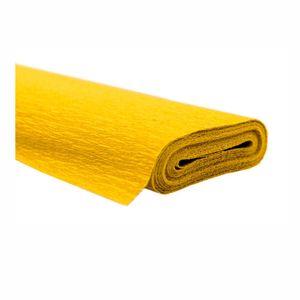 Creleo - Krepppapier gelb 50x250 cm Rolle färbt nicht ab bei kontakt mit Wasser