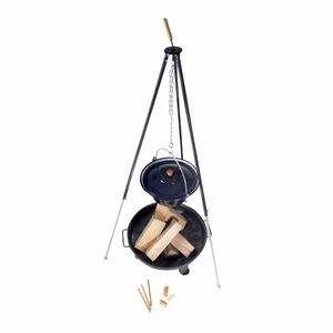 acerto® - Ungarischer Gulaschkessel 22 Liter Dreibein-Gestell 180cm Feuerschale 80cm