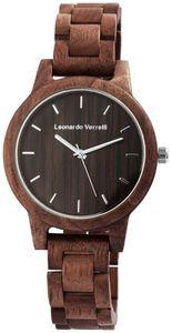 Leonardo Verrelli Herrrenuhr aus Holz mit Holzarmband Analog Quarz 2800033 : 3 Farbe: 3