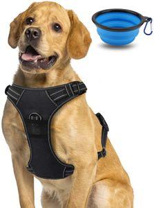 Morpilot Hundegeschirr No-Pull atmungsaktiv Brustgeschirr für Hunde, XL Hundegeschirr mit Hundenapf