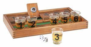 Trinkspiel Minesweeper mit Spielbrett und 6 Gläsern 66157