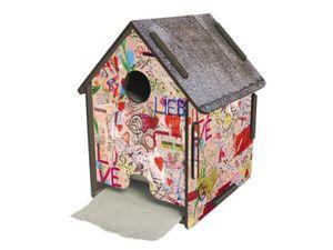 Toilettenpapierspender Haus Graffiti