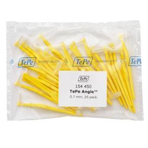 TePe Angle Interdentalbürsten 25 Stück Packung gelb 0,7mm