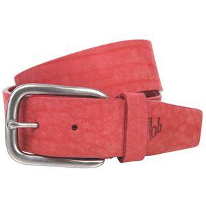 Bruno Banani Ledergürtel Damen / Gürtel Damen, Vollrind-Leder, Nubukleder rot, Größe / Size:95, Farbe / Color:rot