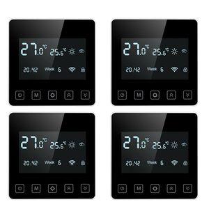 4 x Raumthermostat Wandthermostat Unterputz Fußbodenheizung Infrarotheizung LED 16A Digital Thermostat Raumtemperaturregler Fußbodenheizung Programmierbar