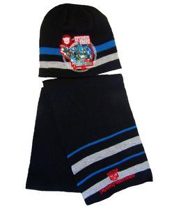 Transformers Mütze und Schal Set für Kinder Schwarz 54