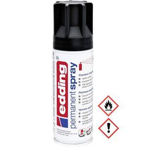 Edding Permanent Spray Premium Acryllack in tiefschwarz matt 200ml