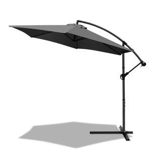 VOUNOT Ampelschirm mit Schutzhülle, Sonnenschirm 300 cm, Grau