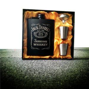 Mini 8 Unzen Whisky Flachmann Edelstahl Alkohol Trichter Kolben -(set jack,)