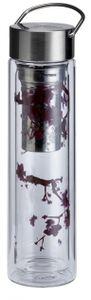 FLOWTEA® Cherry Blossom - Doppelwandig isolierte Glas-Thermoskanne