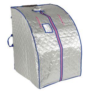 WYCTIN Dampfsauna Silber Heimsauna Wärmekabine 1000w Fernbedienung Heimsauna 80*70*98 cm