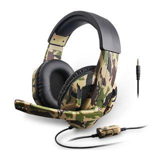 Gaming Headset 3,5mm Kopfhörer mit Mikrofon für Laptop PS4 Xbox One 360 Switch Gamer Stereo Kopfhörer am Kopf