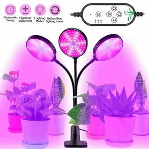 45W Drei Kopf LED Pflanzenlampe Vollspektrum Wachstumlampe Grow Licht Lampe DE