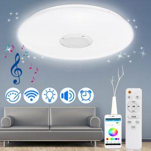 Meco LED Deckenleuchte mit Fernbedienung 72W, Deckenlampe dimmbar, Schlafzimmerlampe Lichtfarbe und Helligkeit Einstellbar Idear für Wohnzimmer Kücke Bad Kinderzimmer Hotel, Ø40cm [Energieklasse A+]