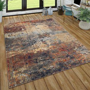Teppich Wohnzimmer Vintage Look Mit Ethno Muster Kurzflor, Modern Mehrfarbig, Grösse:160x220 cm