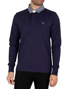 GANT Herren Das Original Heavy Rugger Longsleeved Polo Shirt, Blau S