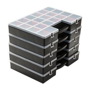 5 x Sortimentskasten Set Kleinteilemagazin Sortierkasten Sortier Box Organizer