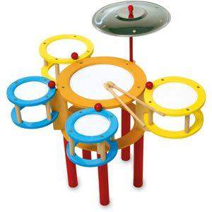 Small Foot Design 4537 Schlagzeug aus Holz, bunt (1 Stück)
