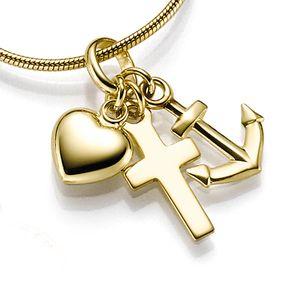 Glaube Hoffnung Liebe Anhänger Gold 333