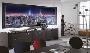 "Komar Fototapete ""Sparkling New York"", bunt, Skyline von New York, 368 x 127 cm"