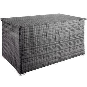 tectake Auflagenbox mit Aluminiumgestell Stockholm, 145x82,5x79,5cm - grau