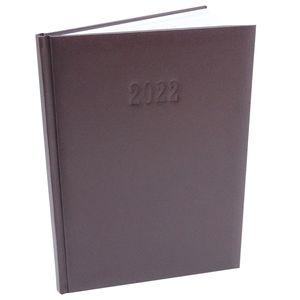 Chefplaner 2022 K|Office - ca. A4  Lederoptik Braun Buchkalender Termin Planer Timer