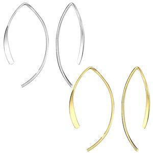 Durchzieher Ohrhänger: Ohrringe Silber 925, Farbe:Gold
