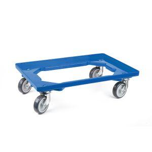 Transportroller 4 Lenkrollen blau