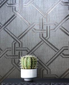 Luxus  Grau Papier  Glamour Modern  Streifen Glanz  Faceville