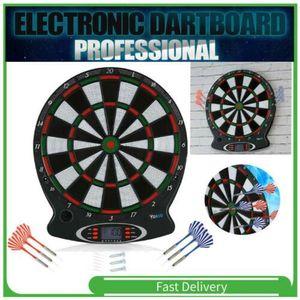 """15""""  Elektronische Dartscheibe Dartboard Dart Scheibe LCD-Scoring-Display mit 6 Darts"""