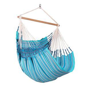 Habana Azure - Hängestuhl Comfort aus Baumwolle blau