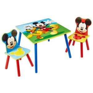 Mickey Mouse Tisch- und Stuhl-Set 3-tlg., Holz: WORL119014