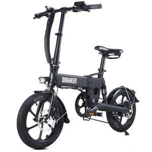 16 Zoll E-Bike Pedelec Mountainbike Elektrofahrrad Schwarz LED Headlight Sports