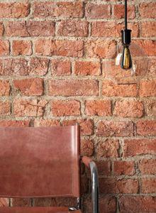 Steintapete Ziegelstein Rot Papier Stein Modern Loft Industrial Mauer Stein  Brik