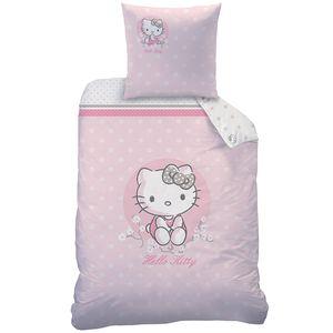 Hello Kitty Wende Bettwäsche Kissenbezug, 80 x 80 cm und Bettbezug, 135 x 200 cm,