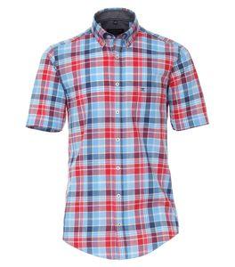Casa Moda - Casual Fit  - Herren Freizeit 1/2-Arm-Hemd mit Button Down-Kragen (903448700), Größe:3XL, Farbe:Rot (400)