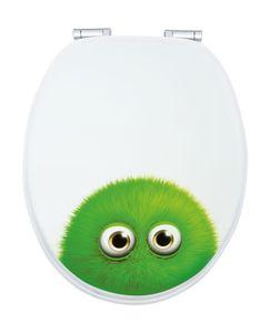 WC-Sitz Nachbildung Monster Bobby mit Absenkautomatik