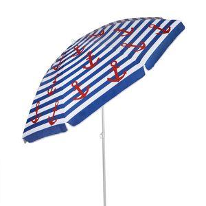 Sonnenschirm 'Nordsee' - D: 200cm - 50+ UV Schutz - Knickgelenk