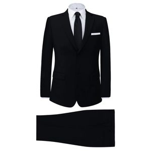 vidaXL 2-tlg. Business-Anzug für Herren Schwarz Gr. 50