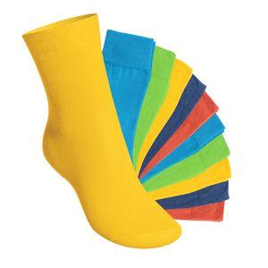 10 Paar EVERYDAY! KIDS Kinder Socken für Mädchen & Jungen Trendfarben-31-34