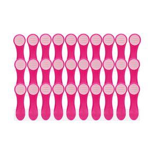 30 Wäscheklammern im Glitter Design für empfindliche Wäsche mit Softgrip Pink