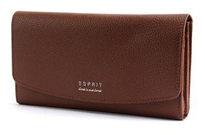 ESPRIT Classic Flap Clutch Wallet Rust Brown
