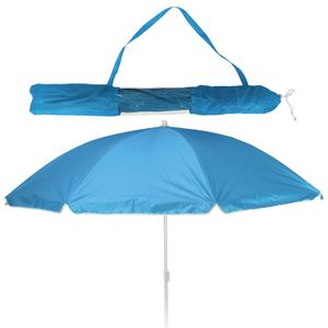 Balkonschirm - Strandschirm - Sonnenschirm - LSF 30+ - 156cm - blau