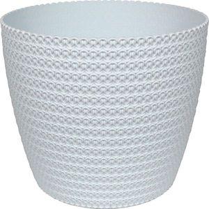 Übertopf Jersey, Größe:ø30 cm, Farbe:Weiss