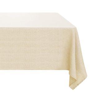 Kartokner Leinenoptik Tischdecke Wasserabweisend Tischwäsche Lotuseffekt 130x200 cm Beige