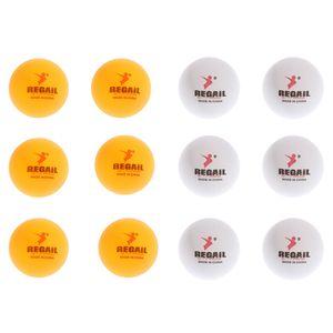 12 Stü Ersatz Trainings Tischtennisbälle Gelb + Weiß